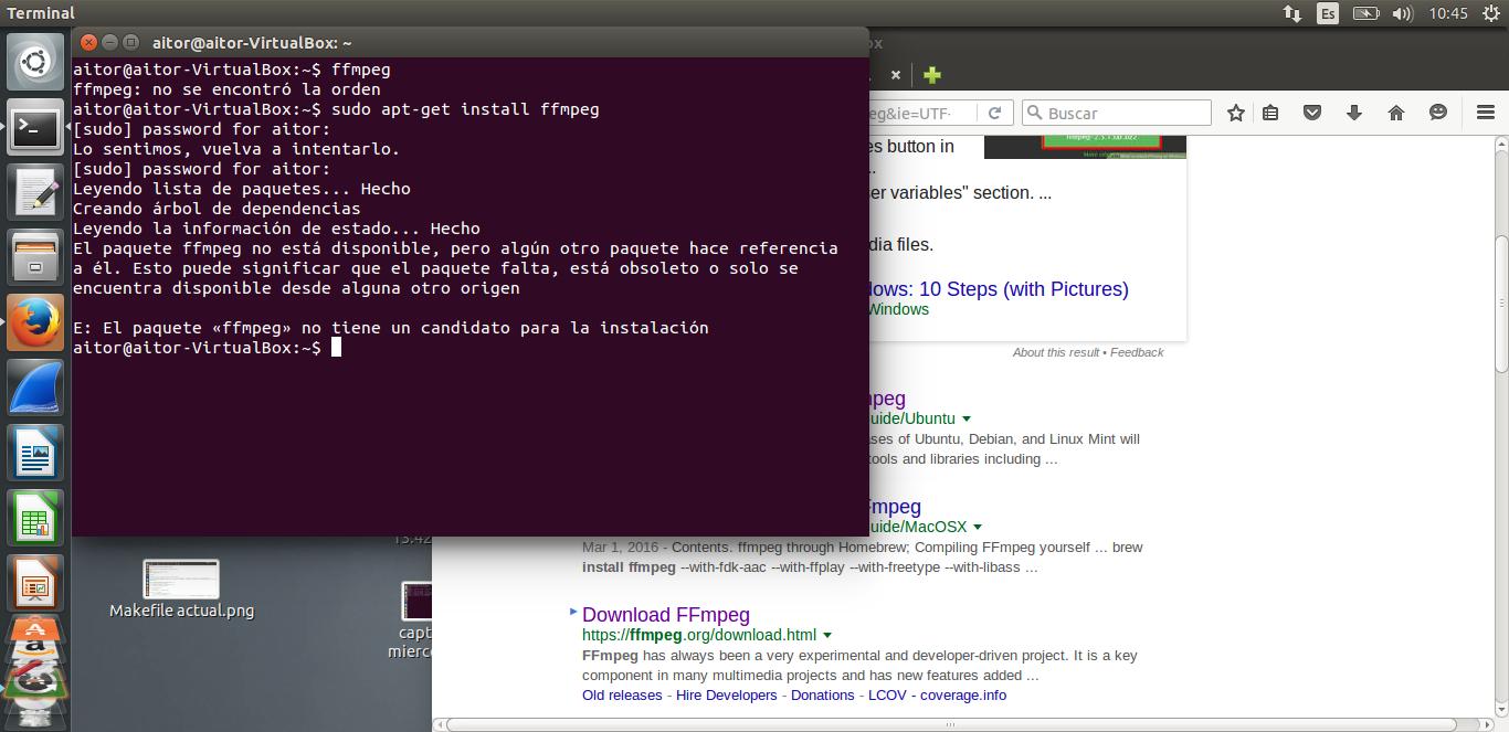 Makefile code unix