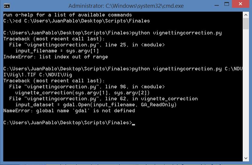 Vignetting Correction Sample Code - Sequoia - Parrot